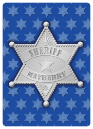 sheriff of mayberry customized playing card customer