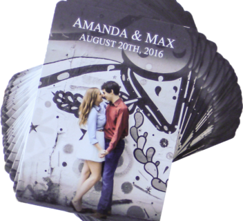 Amanda & Max Wedding Playing Cards
