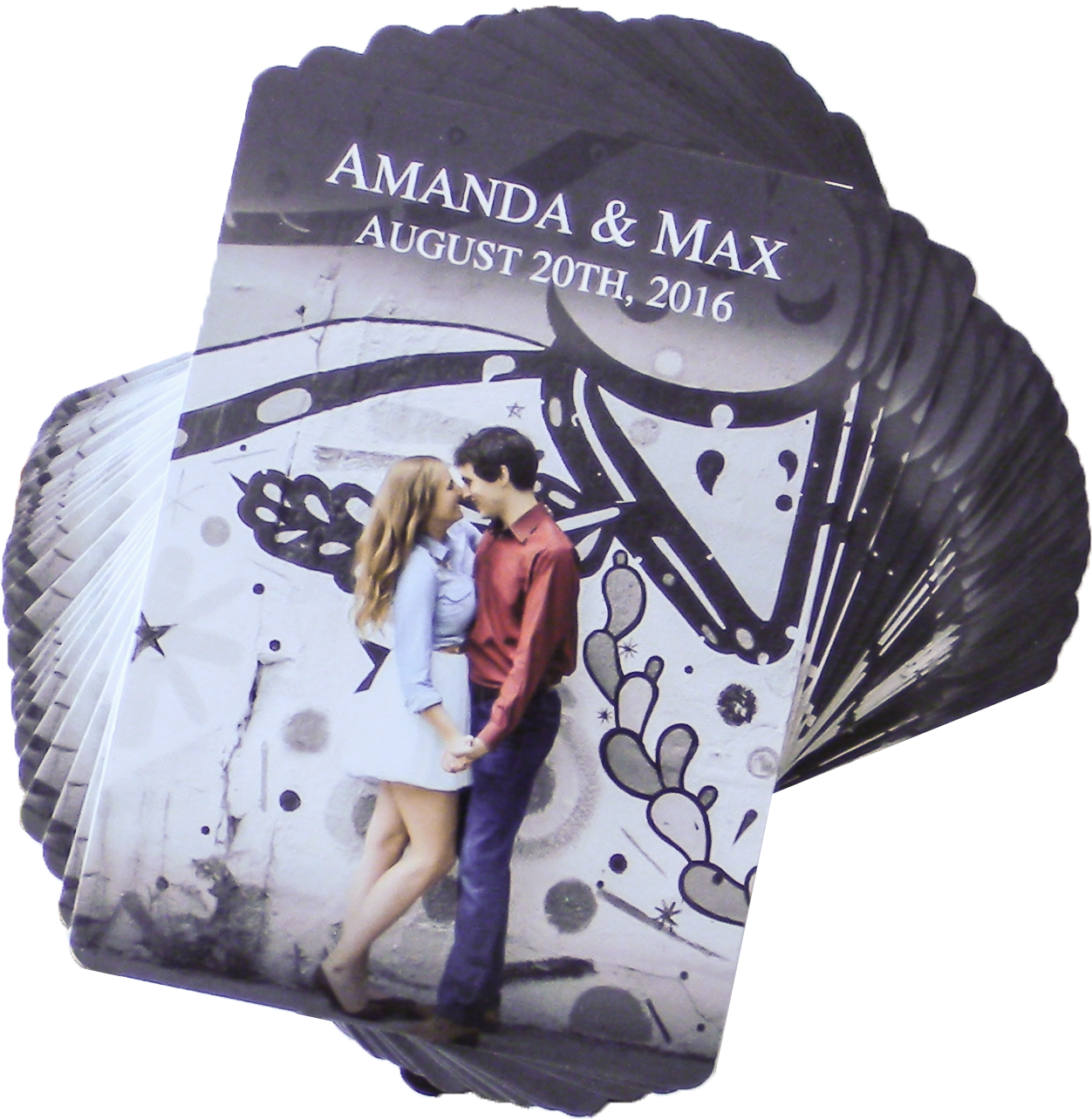 Amanda & Max Wedding Playing Cards