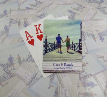 Cara & Randy Wedding Playing Cards