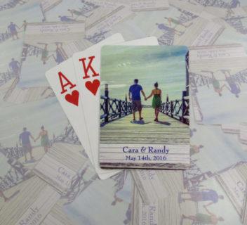 Cara & Randy Wedding Playing Cards